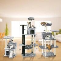Entrega doméstica brinquedo do gato arranhando madeira escalada árvore gato pulando brinquedo escada quadro de escalada gato móveis arranhando pós|scratching post|cat jumping toy|cat furniture -