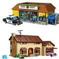 2575PCS Kwik-E-Mart Simpsons Haus Supermärkte Modell 16005 Bausteine Ziegel Spielzeug Geschenk für kinder weihnachten geschenke