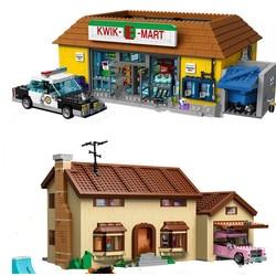 IN STOCK 2575PCS Kwik-E-Mart Simpsons House Supermarkets 16005 Building Blocks Bricks Toys Gift for children christmas gifts