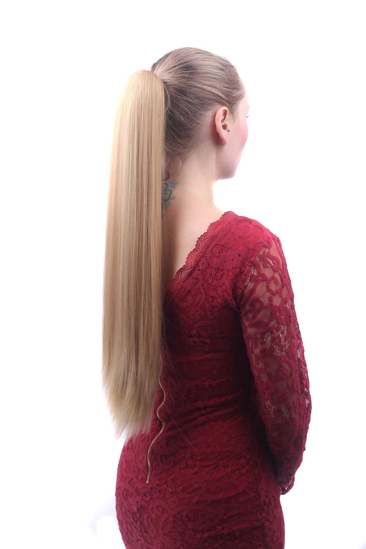 55 Cm Lange Rechte Synthetisch Haar Klauw Paardenstaart False Haar Op Clips Fairy Tail Huis Pony Tail Hair Op Clips