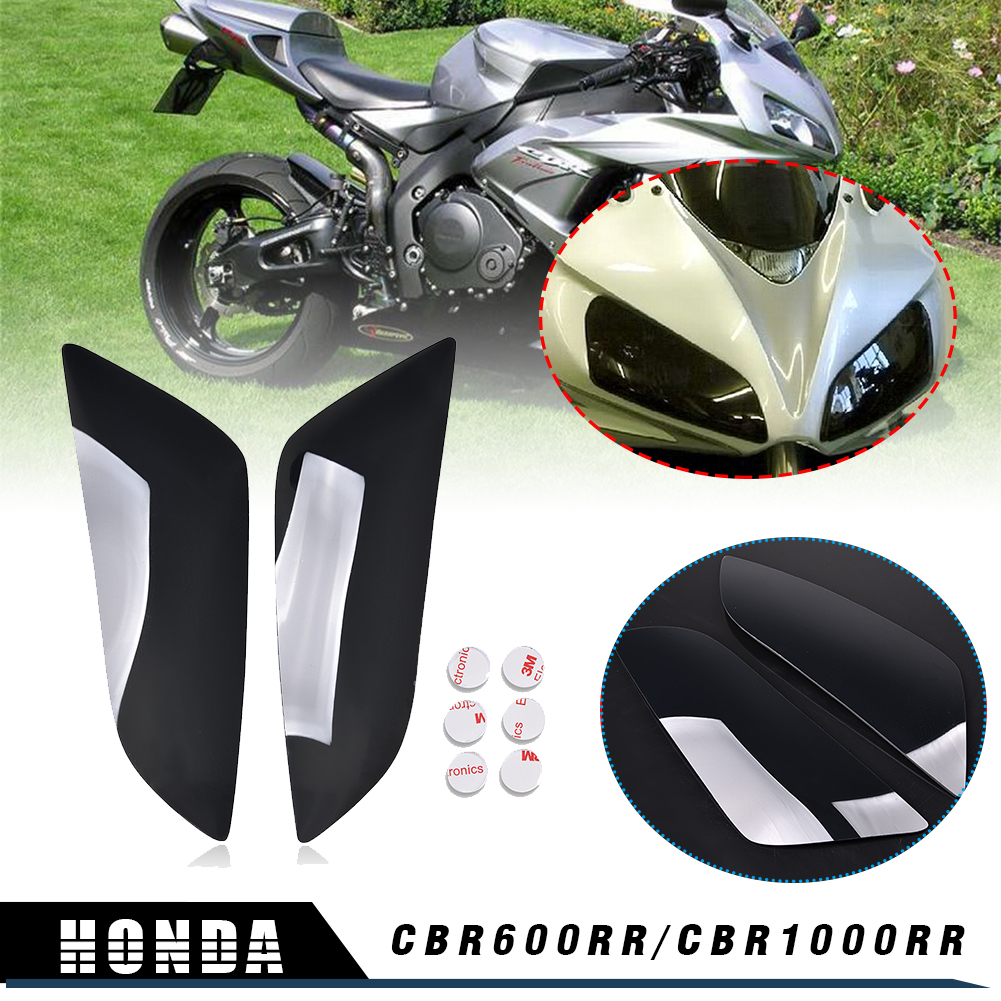 Dark Smoke Headlamps Headlight Lens Cover Shield For Suzuki GSXR 600 750 1000 K1