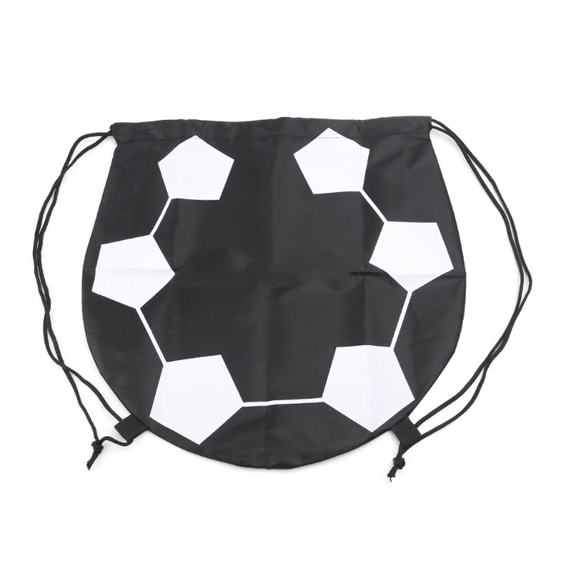 Outdoor Sport Carry Net Drawstring Bag Nylon Football Volleyball Basketball Bags G8TD