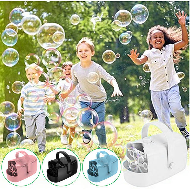 Bubble Machine Two Blowing Speed Levels Automatic Bubble Blower