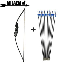 30/40lbs Archery Recurve Bow And Arrow Set With 3/6/12pcs Fiberglass 80cm Spine 900 RH/LHShooting Hunting Accessories