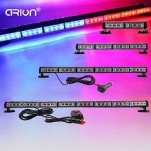 CRION ใหม่ 16 64LED คำเตือนฉุกเฉินรถการจราจร Strobe Light Beacon หลังคากระพริบ Lightbar สีแดงสีฟ้า 12V 24V