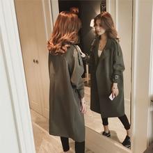 liser Trench coat women's long thin coat loose 2019 popular spring and autumn ne