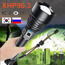 700000LM XHP90.3 Most Powerful Flashlight Torch Usb Tactical Light XHP90 High Power Led Flashlight 18650 Rechargeable Hand Lamps