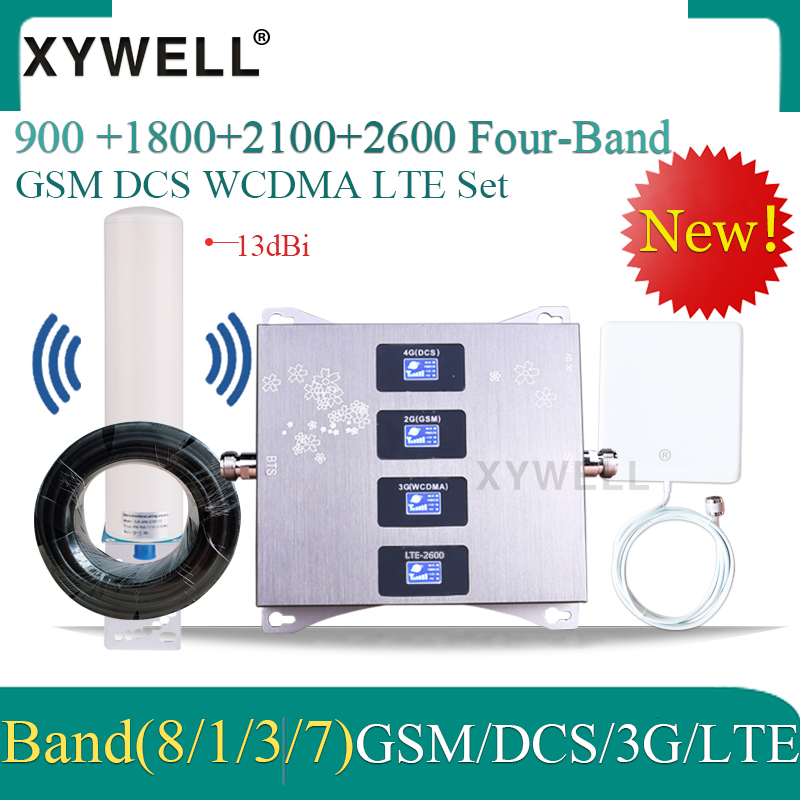 Russia 4g Signal Booster 900 1800 2100 2600mhz Four-Band Cellular Amplifier 2g 3g 4g DCS WCDMA LTE GSM Mobile Signal Repeater