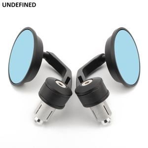 """Image 4 - 1"""" 25MM Bar End Rear View Mirror Motorcycle Rearview Mirrors Side Round Handlebar For Honda CB500 msx 125 shadow r1200gs Chopper"""