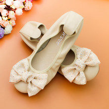 AUCVEE Genuine Leather Women Casual Shoes Flats Sweet Bow Ballerina Loafers Round Toe Women Moccasins Ballet Flats Shoes Size 44 цена 2017