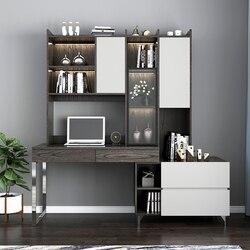 Rama Dymasty 360 stopni obrotowy w kształcie litery L narożnik komputer biurko komercyjne z półki na książki meble domowe biurko komercyjne