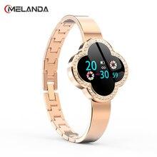 Melanda Fitness Tracker Vrouwen Slimme Horloge Mannen Smartwatch Waterdichte Armband Hartslagmeter Sport Polsband Voor Android Ios