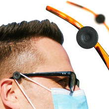 2 pçs óculos elástico máscara facial regulador libertar orelhas ganchos protetores de orelha óculos protetores de orelha botão extensão ajustador