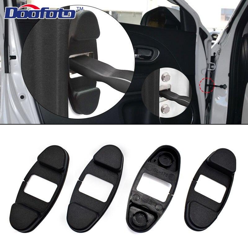 Doofoto 4x רכב דלת נעילת זרוע הגבלת פקק כיסוי עבור הונדה סיוויק ג 'אז CRV Dio NC750X Fit אקורד אביזרי רכב סטיילינג מקרה