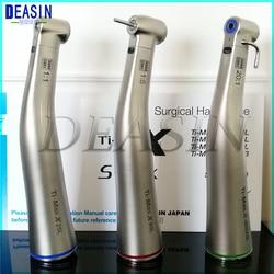 1 stücke x Dental Fiber Optische LED Contra Winkel Ti-max Niedriger Geschwindigkeit Handstück 1:5 1:1 20:1 1:4. 2 dental handstück