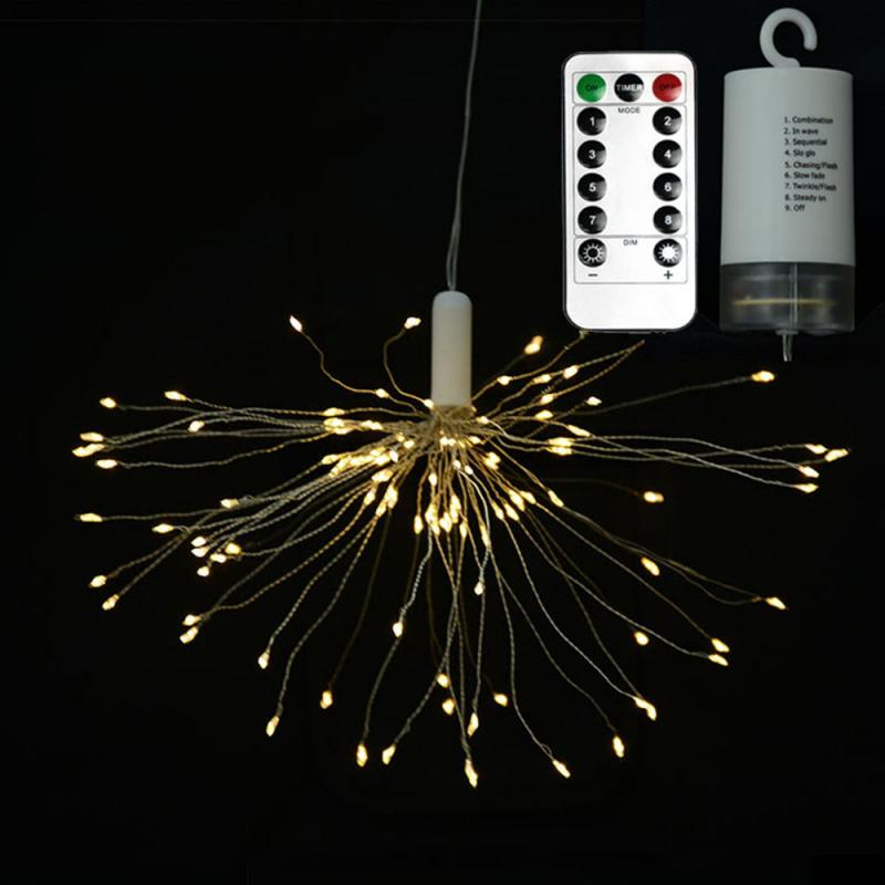 LED Firework Lamp 6V 1500LM High Bright Fairy Lights Garland For Christmas Wedding Garden Decoration Remote Led Shaped Lamp