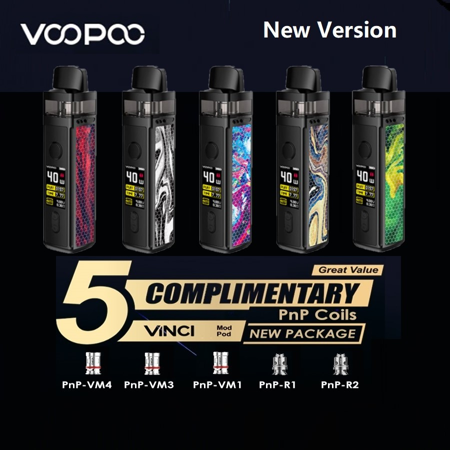 Hot Original VOOPOO VINCI Mod Pod Vape Kit With1500mAh Battery & 5.5ml Pod & 0.96 Inch Screen Vape Kit Vs Vinci X / Target PM80