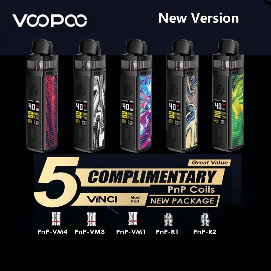 Hot Original VOOPOO VINCI Mod Pod Vape Kit With1500mAh Battery & 5.5ml Pod & 0.96 Inch Screen Vape Kit Vs Vinci X / Target PM80