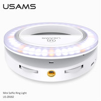 USB Charging LED Selfie Ring Light for Iphone Lighting Selfie Photo Camera Fill Light Mobile Phone Clip Lens Light Lamp