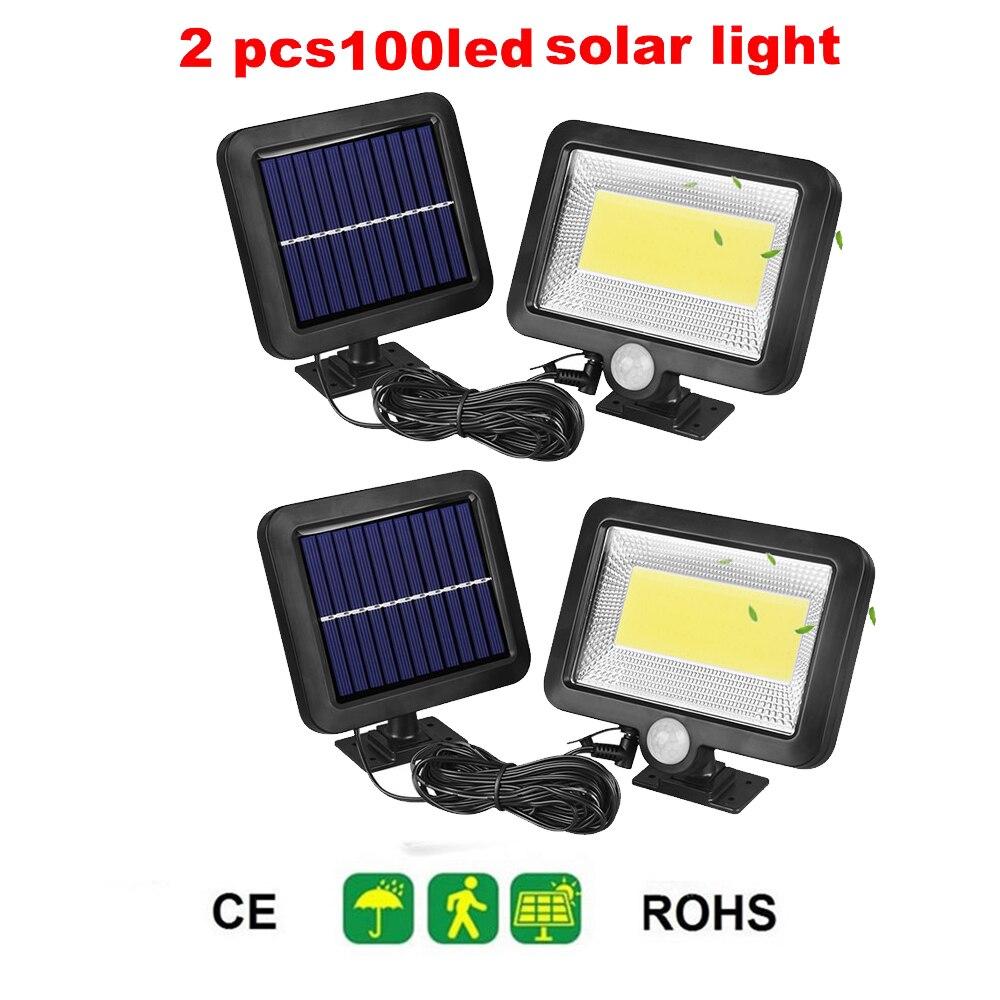 2/4pcs Solar Lamp Outdoor Led Light Wall Street Garden Security PIR Motion Sensor Solar Powered Lampada Waterproof IP65 Decorati