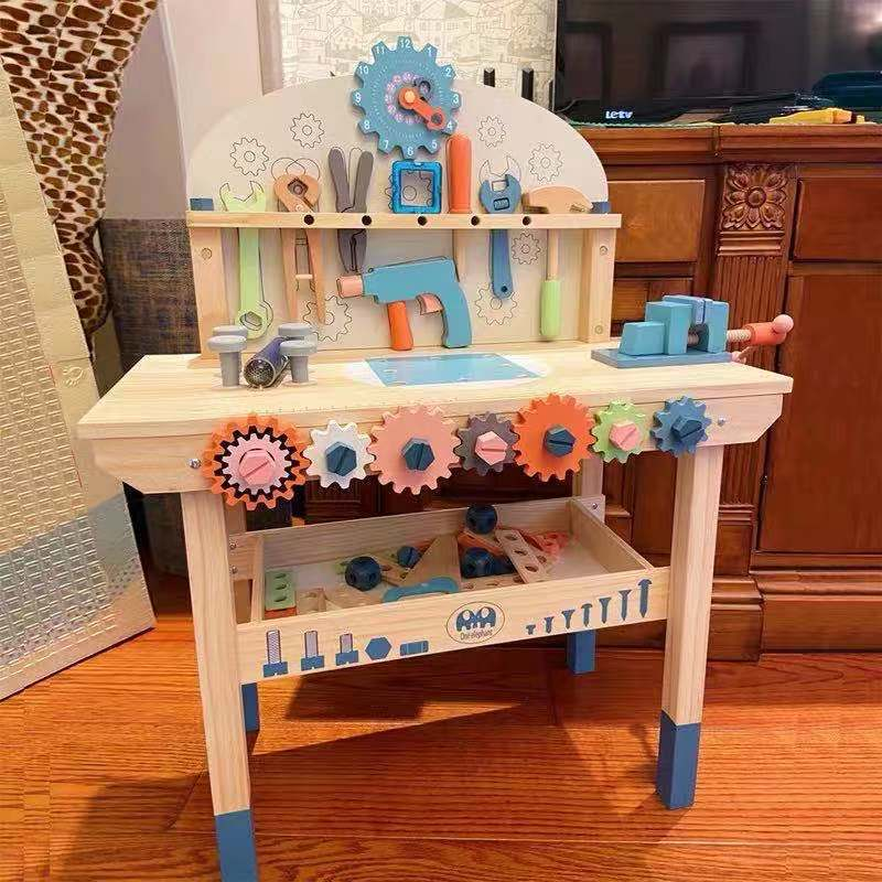 Montessori Toy Nut DIY Wooden Disassembly Screw Children Multifunctional Repair Tool Set Wooden Toys Multi Function Tool Desk
