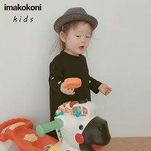 Imakokoni orijinal çocuk saf siyah kolsuz Imakokoni japon hava tabakası sundress kadınlar
