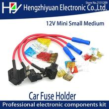 TAP Adapter with 10A Micro Mini Standard ATM Blade Fuse 12V MINI SMALL MEDIUM Size Car Fuse Holder Add-a-circuit Piggy Back Fuse