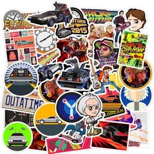 Image 2 - 50Pcs סרט בחזרה לעתיד מדבקות חבילה עבור על מחשב נייד מקרר טלפון סקייטבורד נסיעות מזוודה מדבקה