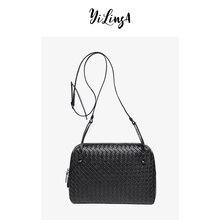Sac à bandoulière en cuir pour femmes, marque de luxe, sac tissé à la mode, sac à coque Simple, sacoche de bonne qualité, 2021 peau de mouton, nouvelle collection 100%