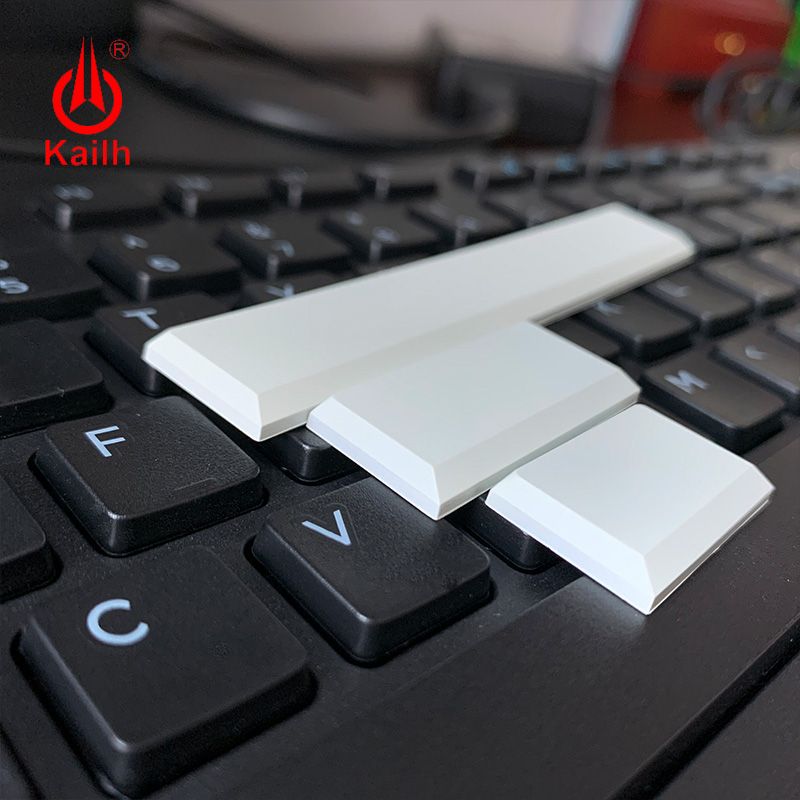 Kailh Low Profile Keycaps White Black Color Mechanical Keyboard Keycaps1.5u/2.0u/spacebar