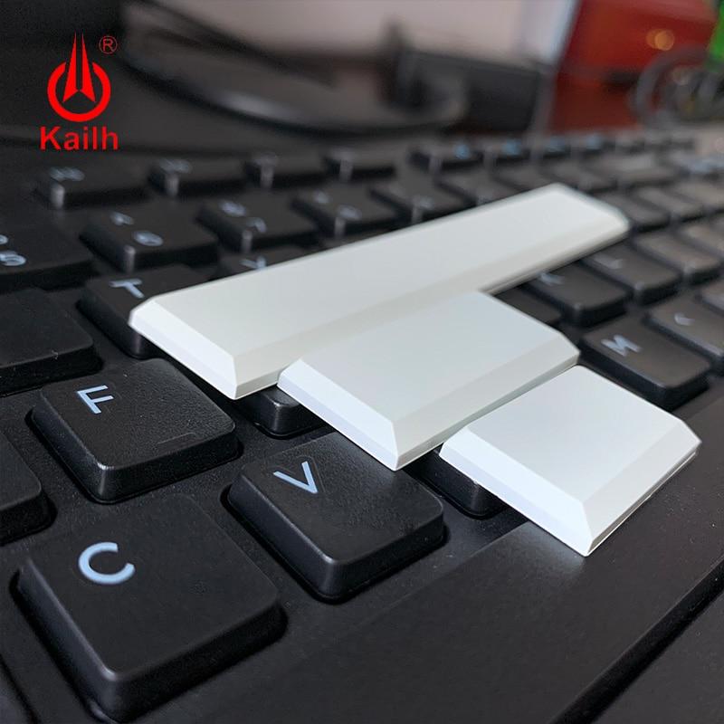 Kailh Low Profile Keycaps White Black Color Mechanical Keyboard Keycaps1.5u/2.0u/spacebar