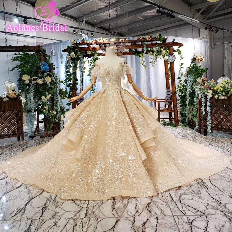 Arabie saoudite Vintage arabe dentelle casquette manches robe De mariée 2019 robe De bal chérie robes De mariée Vestido De Noiva Novias Vestidos