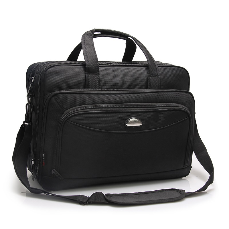 17 Inches Men's Briefcase Business Large Briefcases Waterproof Oxford Extensible Laptop Computer Bag