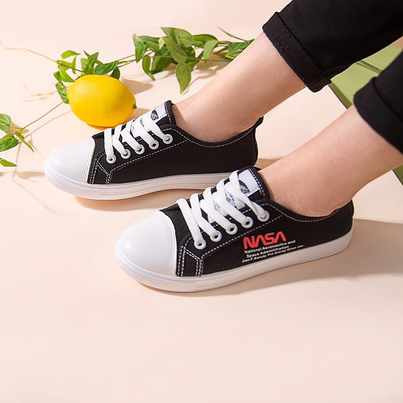 Summer Black Off White Women Sneakers Shoes PU Leather Platform Lace Up Casual Zapatillas Mujer Blancas 31811AHL2435 in Women 39 s Vulcanize Shoes from Shoes