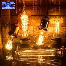 Винтажная спиральсветильник лампа накаливания e27 220 В 40 Вт