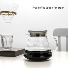 Coffee-Pot Cofee V60 Cold-Kettle Glass ICE-DROP-FILTER Heat-Resistant Sharing Hand-Washed