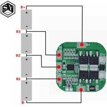 Защитная плата BMS PCM для литий-ионных батарей, 1 шт., 14,8 в/16,8 в, 20 А, пиковая, bms, для литиевых батарей 18650 LicoO2 Limn2O4