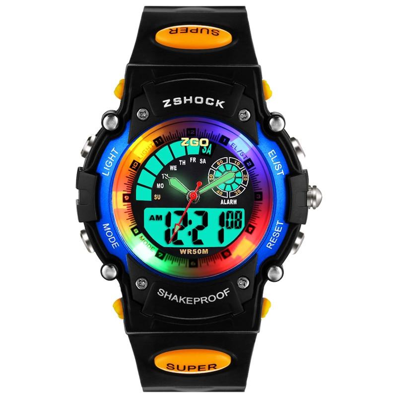 2019 Fashion Zgo Brand Leather Strap Wristwatch Student Casual Quartz Watch For Girl Boy.Relogios Lovely Cartoon Watch Clocks