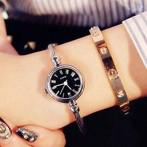 Image 3 - Luxury Women Watch Bracelet Simple Fashion Female Clock Simple Quartz Wrist Watch Women relogio feminino reloj mujer 2019