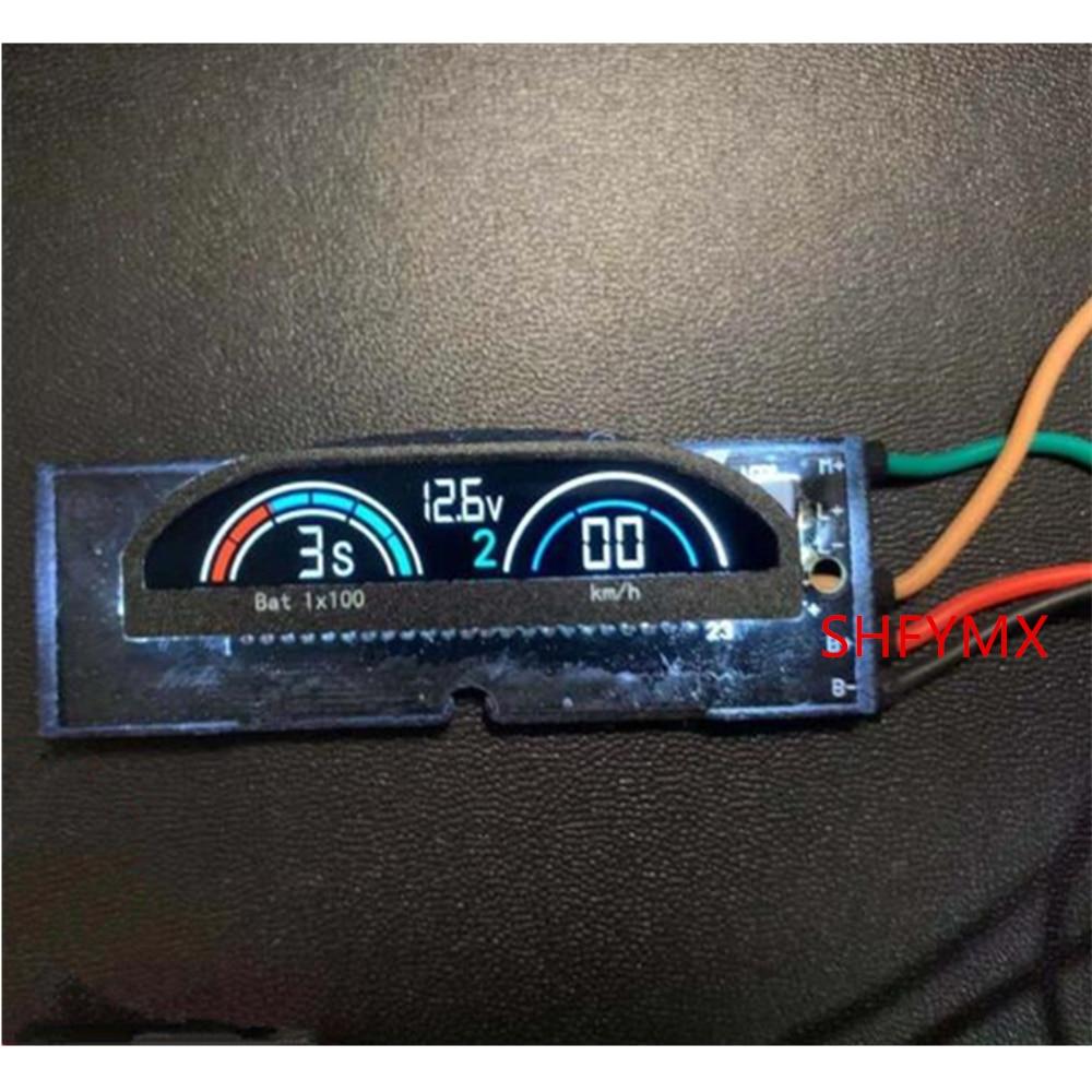 Rc Car Body Cab Interior Digital LCD Instrument For Remote Control Car Rc Buggy Capo Jkmax Upgrade Parts Diy Accessories