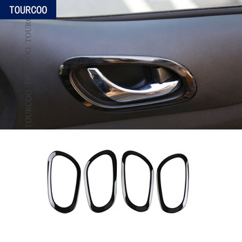 For Nissan Terra 2018 Inner Door Handle Bowel Decoration Trim Sticker Stainless Steel Car Modification Accessories image