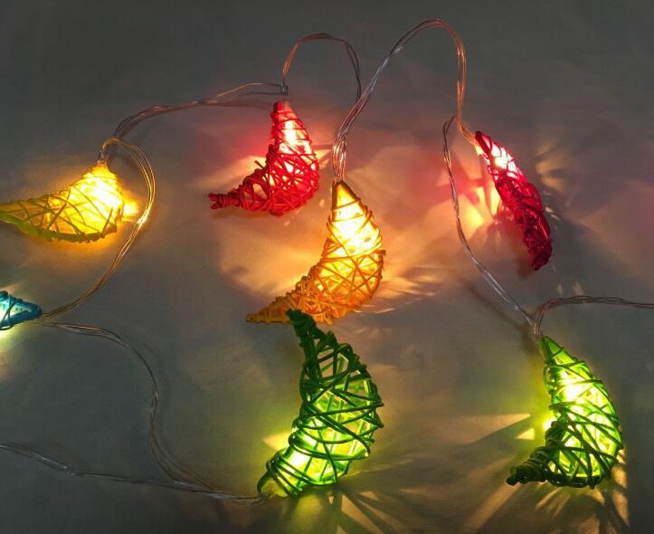 1.5m 10 Led LED Moon String Light Decoration Holiday Coloured Light Battery Box