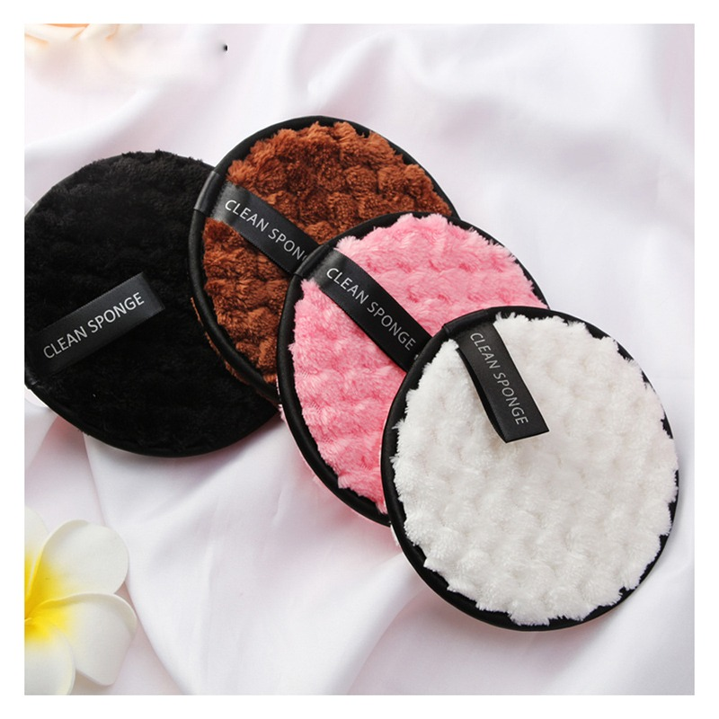 Microfiber Cloth Pads Facial Makeup Remover Puff Cotton Double Layer Face Cleansing Towel Reusable Nail Art Cleaning Wipe