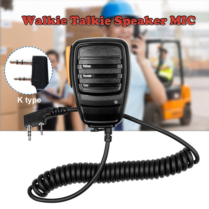 Original For Baofeng Radio Speaker Mic Microphone PTT For Portable Two Way Radio Walkie Talkie UV-5R UV-5RE UV-5RA Plus UV-6R