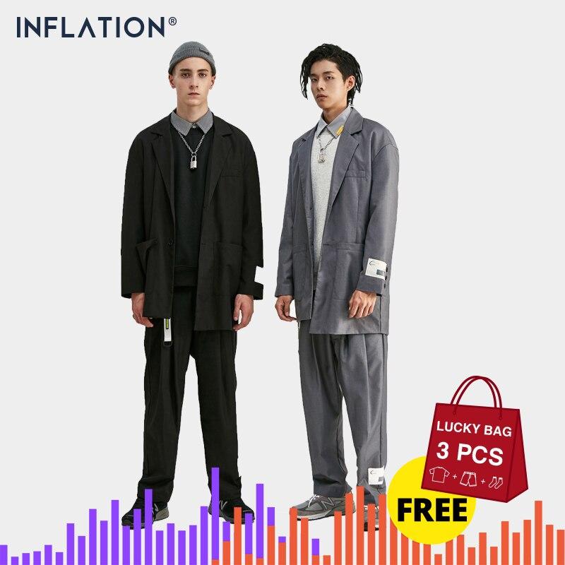 INFLATION  2019 Men Fashion Suit Hight Street Trendy Luxury Men Blazer High Quality Loose Fit Men Suit Autumn Men's Outfit