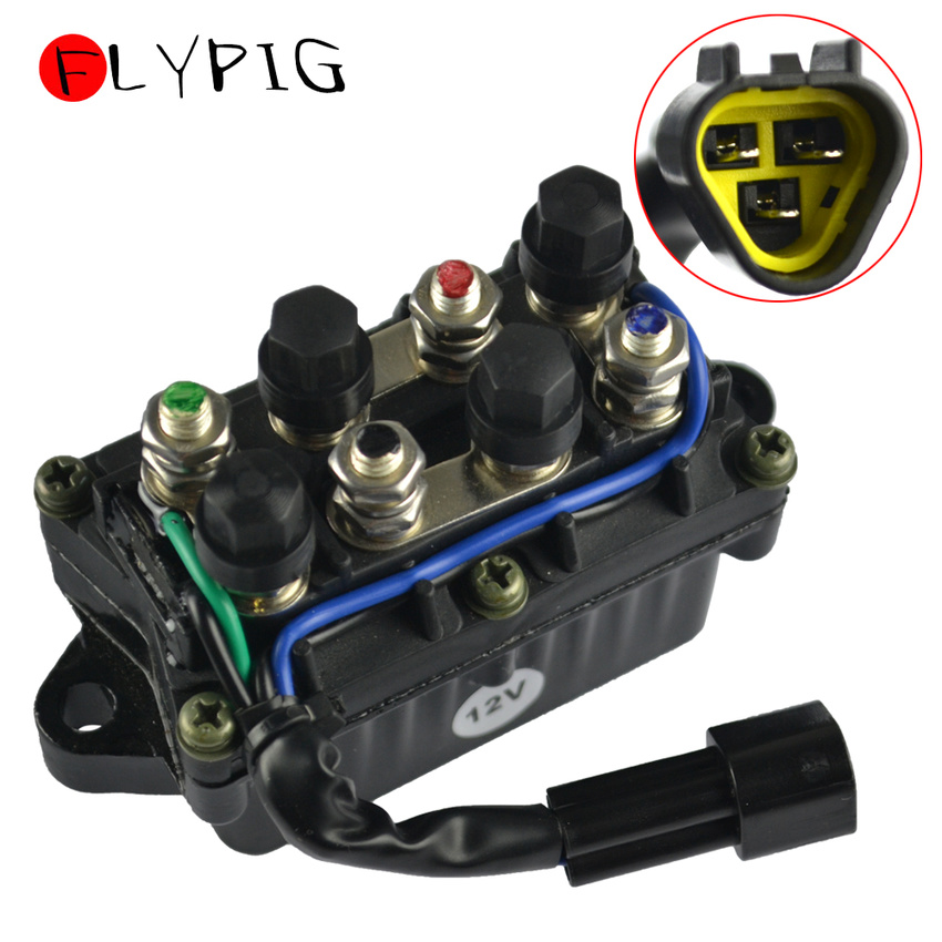 12V 3 Pin Waterproof Trim Relay Boat Motor Power For Yamaha Outboard 40-90 HP61A-81950-00-00 61A819500100  61A-81950-00-00