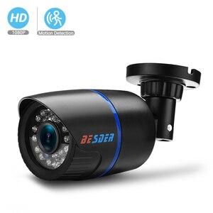 Besder ahd câmera 1080 p sony imx322 2.0 mega pixel câmera de vigilância de vídeo visão noturna ir cctv câmera de segurança ao ar livre
