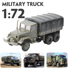 цены 1:72 M35 Military Truck 4D Wheeled Armored Vehicle Rubber-free Assembly Model Military Toy Car Gifts for Kids Boy