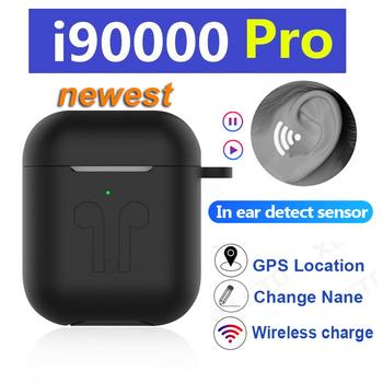 Oryginalny i90000 pro tws 1 1 bezprzewodowe słuchawki Bluetooth 9D Super bas z pozycjonowanie GPS zmień nazwę pk H1 Chip i200 tws i5000 pro tanie i dobre opinie XLSTO Dynamiczny wireless Zaczep na ucho 103±3dBdB 0Nonem Monitor Słuchawkowe Wspólna Słuchawkowe Sport Brak 16ΩΩ