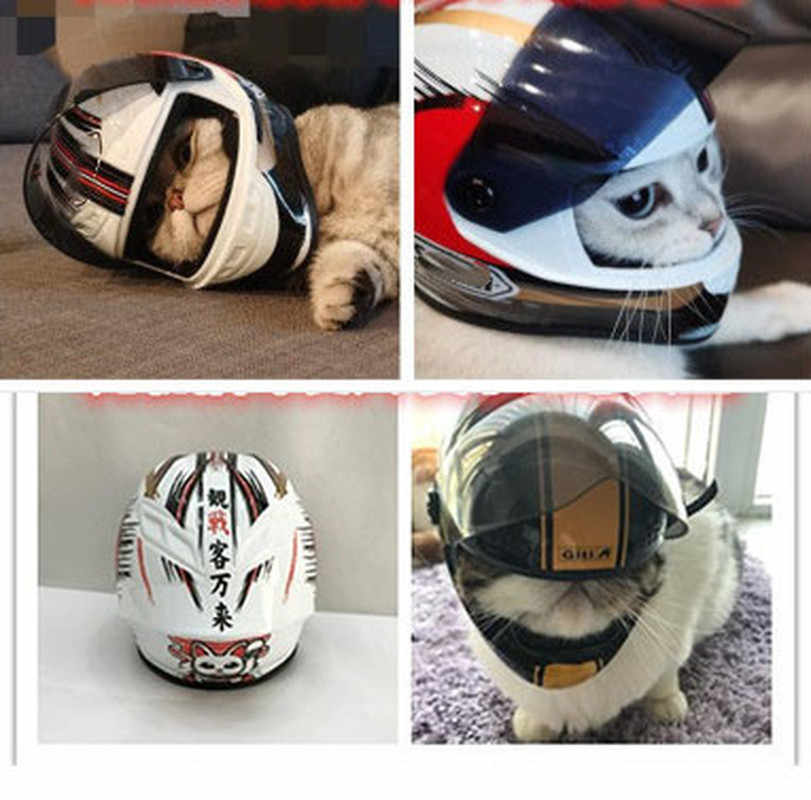 Teddy Bear Bambola Casco Modello Pet Casco Gatto Bello Mini Moto Del Cane Cappello Casco Cappello Animale Domestico Del Motociclo di Sicurezza del Cane Cappello